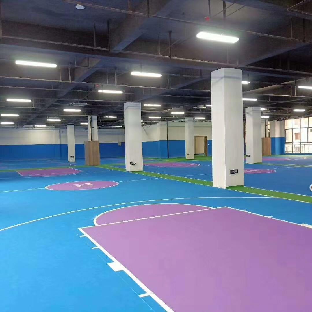 江蘇淮安丙烯酸室內籃球場